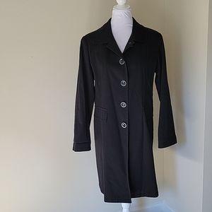 Pendleton Black Trench Coat Size 8